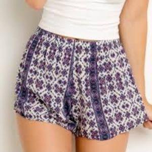 Brandy Melville Purple Flowy Shorts One Size